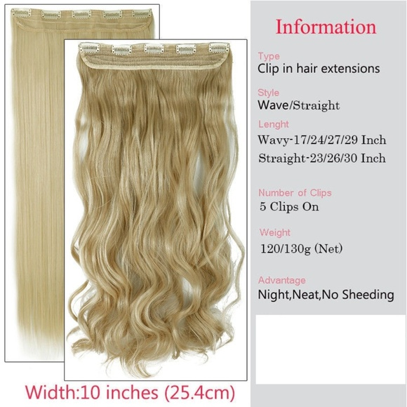 Accessories Clip In 100 Natural 24 Hair Extensions Curly Poshmark